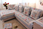 Blue Rose pastoral pure cotton quilting fabric sofa cushion sofa sets