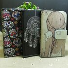 Wind Chimes Skull Cat Girl Wallet Stander flip case cover for Samsung Phone