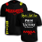 Muay Thai Fighting Shorts Sleeve Shirt  MMA UFC Boxing FREE Tapout Sticker Tee w