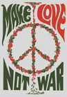 Cross stitch chart, Pattern, Make Love Not War, 60's, Pop, Rock, Artwork Protest