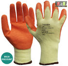 24 PAIRS ORANGE RUBBER LATEX COATED WORK GLOVES GARDENING SAFETY GRIP