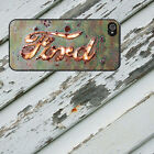 Rusted Ford Badge for Black iPhone 5/5s/5c/6/6s/7 Galaxy S4/S5/S6/S7 Rubber Case