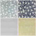 Feather Patterned 100% cotton fabric blue grey white & beige per FQ/ half metre