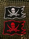 Tattered Jolly Roger Pirate Flag Patch