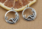 10/40/200pcs Tibetan Silver Beautiful Mermaid Jewelry Charms Pendant DIY 20x16mm