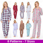White Mark Women's Flannel Pajama Set 100% Cotton 2-PC PJ Set  Sleepwear - NEW