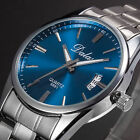 New Fashion Men's Watch Stainless Steel Date Analog Quartz Sports Wrist Watch image