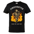 T-SHIRT FIREFIGHTER FIRST IN LAST OUT 100% COTTON IDEAL FOR FIREFIGHTERS