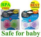 2x Tommee Tippee Closer to Nature AIR style Orthodontic Soother Pacifier 0-18m