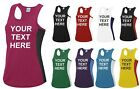 Ladies Personalised Gym Running Vest Gym Tank Top Custom Printed Workout Womens