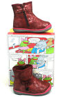Girls Kids Toddlers Child Cute Red Or Black Zipped Ankle Boots Shoes Small Sizes