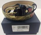 GATTINONI PLANETARIUM CINTURA WOMEN BELT SMALL COW LEATHER PELLE COL 100 NERO