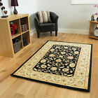 New Black Cream Traditional Rugs Small Extra Large Long Big Huge Size Soft Mats