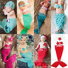New Girl Newborn Baby Infant Crochet Knit Photo Prop Cute Mermaid Outfit Costume