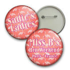 Pink Flamingos Hen Night Badges, Personalised Hen Badges - 58mm party badges