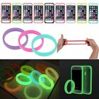 New Universal Soft Silicone Luminous Protect Phone Bumper Frame Case Cover Ring