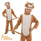 Child Tiger Costume Boys Girls Book Day Animal Fancy Dress Outfit