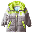 Wippette Toddler Boys Colorblock Microfiber Hooded Winter Puffer Jacket