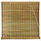 Oriental Furniture Burnt Bamboo Roll Up Blinds Tortoise