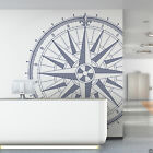 360 Compass Rose Vinyl Wall or Ceiling Decal - fits nursery room + more K670