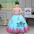 Flower Girl Dresses for Pageant Prom Birthday Wedding Party Princesses BallGown
