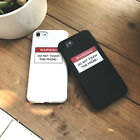 "Cute ""DON'T TOUCH THIS PHONE"" Letter Fashion Case For iPhone 6 6s Plus 7 7 Plus"