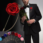 Men's Rose Flower Brooch Lapel Badge Suit Pin Wedding Party Fashion Accessories $0.74 USD on eBay