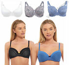 PLUS SIZE Ex Marks Spencer Bra Balcony Lace Full Cup Shorts Briefs Underwear