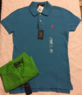 Polo Ralph Lauren Shirt Womens Polo Skinny Fit Pony Logo New Nwt