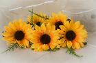 Wedding Flowers - Yellow Sunflower Buttonhole, Groom, Best Man Father of Bride