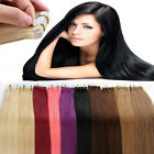 Tape in 100% Virgin Remy Human Hair Extensions 20/40pcs Smooth Skin Weft AU
