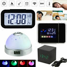 Digital LCD Alarm Clock Time  Snooze Alarm Clock Color Display w/ LED Backlight
