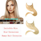 """16""""-30"""" Invisible Wire flip in 100% Remy Human Hair Extensions Headband No Clip"""