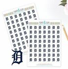Detroit Tigers Planner Stickers - Perfect for all Planners like Erin Condren