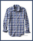 Banana Republic Mens S Camden-fit BLUE PLAID Custom Wash 078 BRAND NEW FREE SHIP