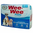 """Four Paws Wee-Wee Pet Training and Puppy Pads  100 Count Bag  22"""" x 23"""" Pad NEW"""