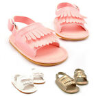 0-18M Baby Toddler Infant Tassel Moccasin Sandal Girls Soft Sole Leather Shoes