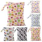 Baby Protable Useful Nappy Reusable Wet Dry Cloth Zipper Waterproof Diaper Bag