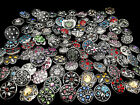 wholesale assorted interchangeable 18mm rhinestone snap buttons chunk charms