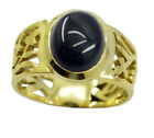 fine Black Onyx Gold Plated Black Ring supplies US 6,7,8,9