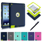 Kids Shock Proof Heavy Duty Rubber Hard Case Cover For Apple Ipad 2 3 4 Mini Air