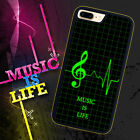 Music is Life for iPhone 5 5s 4 4s 5c 6 6 7 Plus iPod touch Pone Case