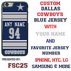 Dallas Cowboys BLUE NFL Phone Case Cover for LG G5 HTC One m10 Moto E G X etc