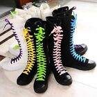 PUNK EMO Women's Hot Shoes Canvas Boots Lace Up Knee High Sneaker Pumps Newest