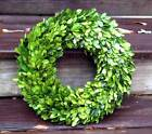 Preserved Boxwood Country Manor Wreath - Choose Round Or Square
