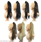 """20"""" Long Straight Clip In On Ponytail Hair Piece Synthetic Extensions Festivals"""