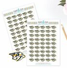 Nashville Predators Planner Stickers -Perfect for all Planners like Erin Condren $3.75 USD on eBay