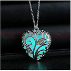 New fashion glow in the dark heart pendant Love hearts hollow-out necklace