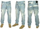 MENS NEW ETO LATEST TAPERED FIT JEANS IN LIGHT BLUE WASHED COLOUR RRP £49.99
