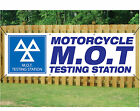 MOTORCYCLE MOT TEST CENTRE SIGN BANNER GARAGE SIGN waterproof PVC with Eyelets